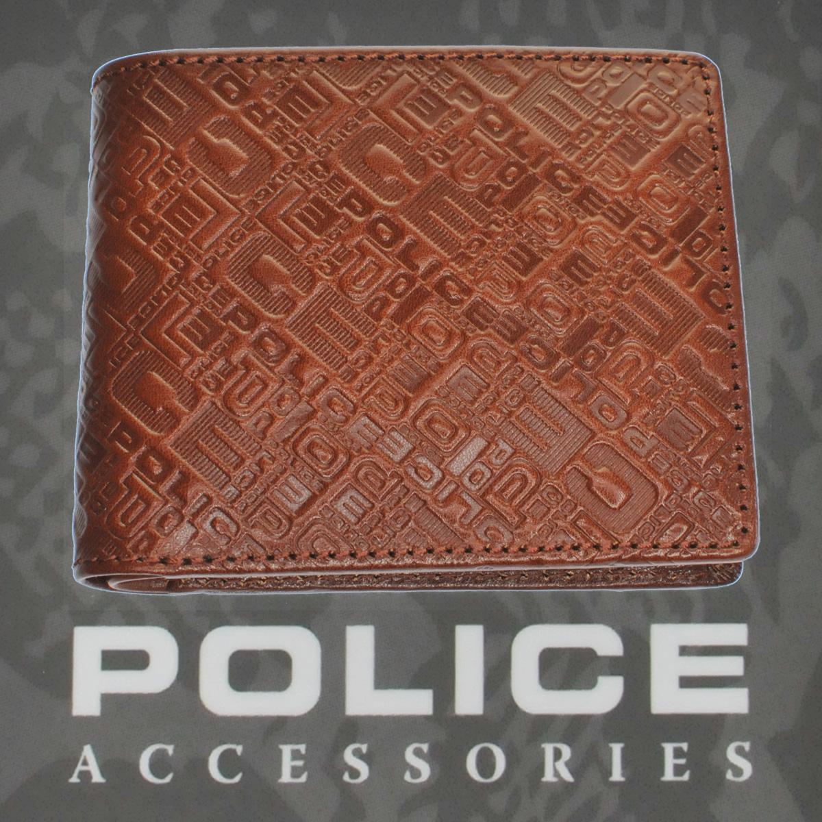 POLICE 財布 二つ折り MONOGRAMⅡ  ブラウン【PA-56501-25】