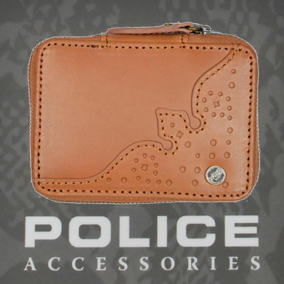 POLICE(ポリス)WINGTIP キーケース ブラウン【PA-56800-25】