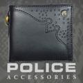 POLICE(ポリス)財布 WINGTIP 二つ折り ブラック【PA-56801-10】