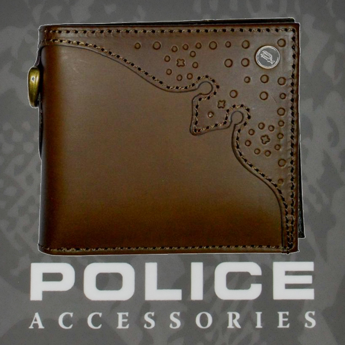 POLICE(ポリス)財布 WINGTIP 二つ折り グリーン【PA-56801-35】