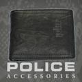 POLICE(ポリス)WRINKLE 二つ折り財布 ブラック【PA-56602-10】