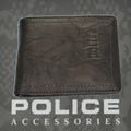 POLICE(ポリス)WRINKLE 二つ折り財布 ブラウン【PA-56602-29】