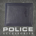 POLICE(ポリス)WRINKLE 二つ折り財布 ネイビー【PA-56602-50】