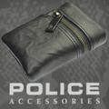 POLICE メンズ 二つ折り財布 ZIP  ブラック【PA-51021-10】