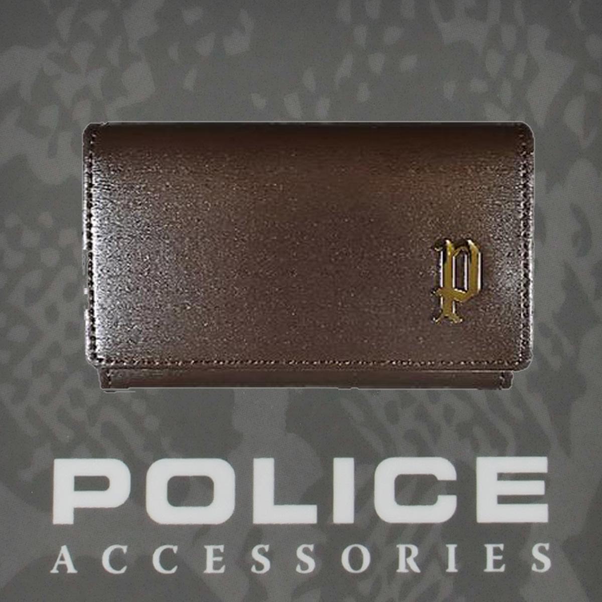 POLICE  メンズ  SEMPLICE カード入れ ブラウン【PA-59000-29】
