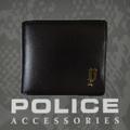 財布 メンズ ポリス 二つ折り  SEMPLICE ブラック【PA-59001-10】