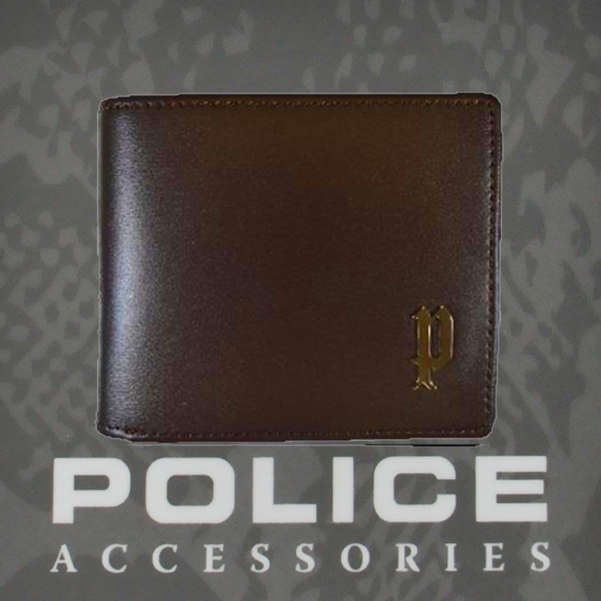 POLICE   財布 二つ折り SEMPLICE ブラウン【PA-59001-29】