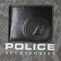 財布 メンズ ポリス 二つ折り BASICⅣ  ブラック【PA-59300-10】