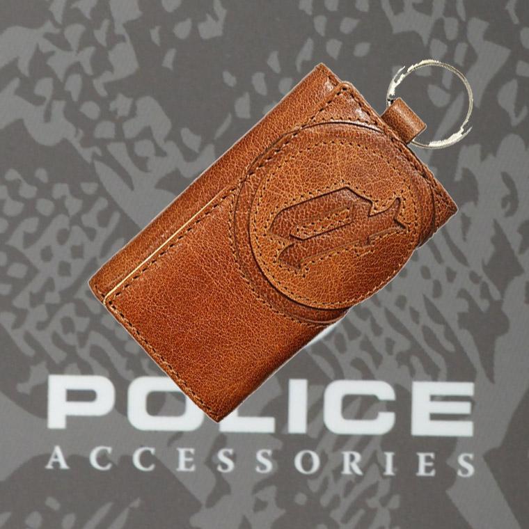 POLICE(ポリス)BASICⅣ キーケース キャメル【PA-59303-25】