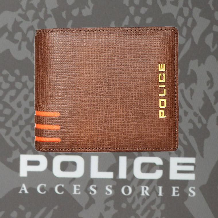 POLICE   財布 二つ折り  LINEA  ブラウン【PA-59501-25】