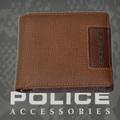 POLICE メンズ 二つ折り財布 ADVANCE  キャメル【PA-58202-25】