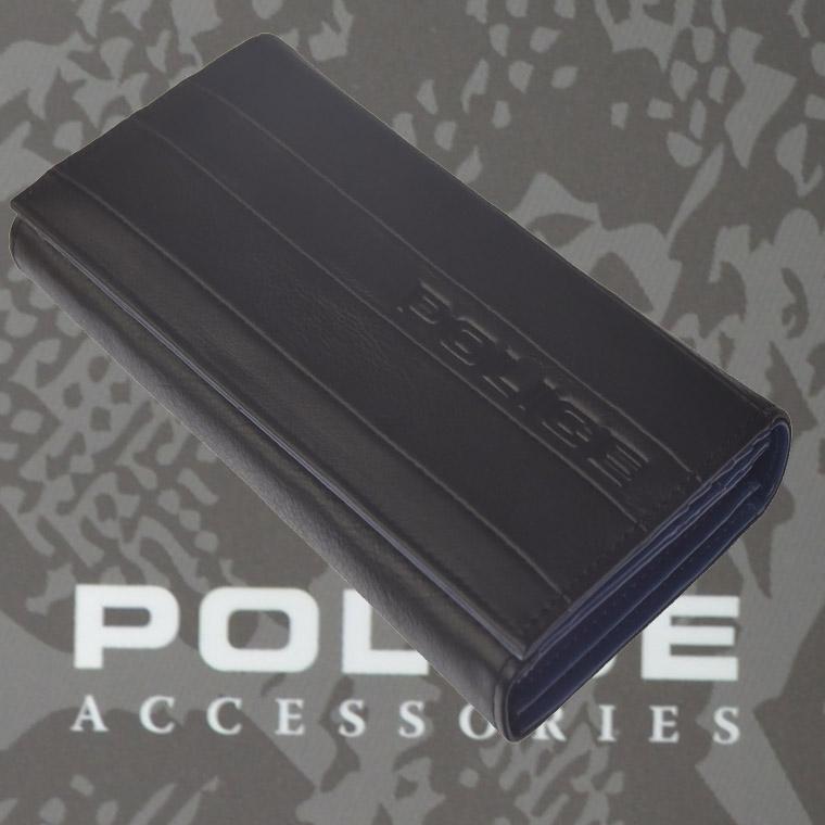 財布 メンズ ポリス BICOLORE ブラック【PA-59902-10】