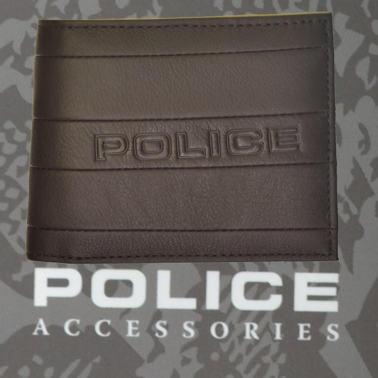 ポリス 財布 二つ折り BICOLORE ブラウン【PA-59901-29】