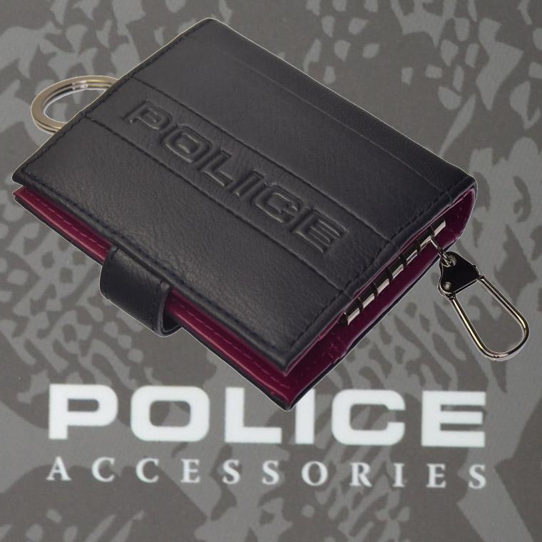 POLICE BICOLORE  キーケース  ネイビー【PA-59900-50】