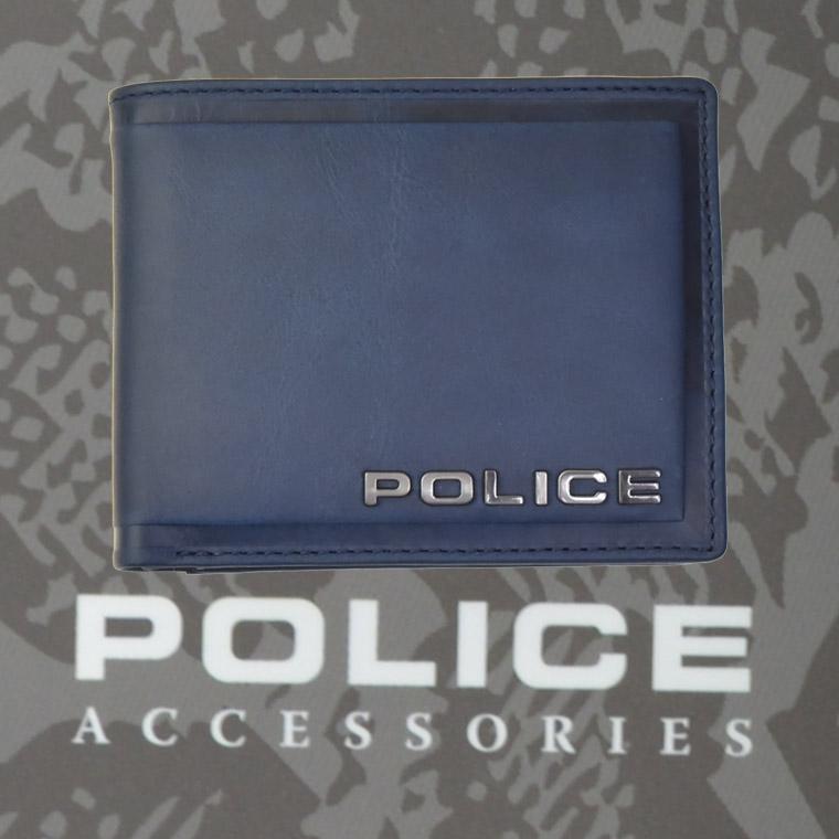 POLICE   財布 二つ折り EDGE ネイビー【PA-58000-50】