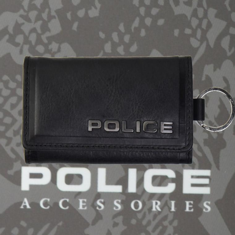 POLICE(ポリス)EDGE キーケース ブラック【PA-58003-10】