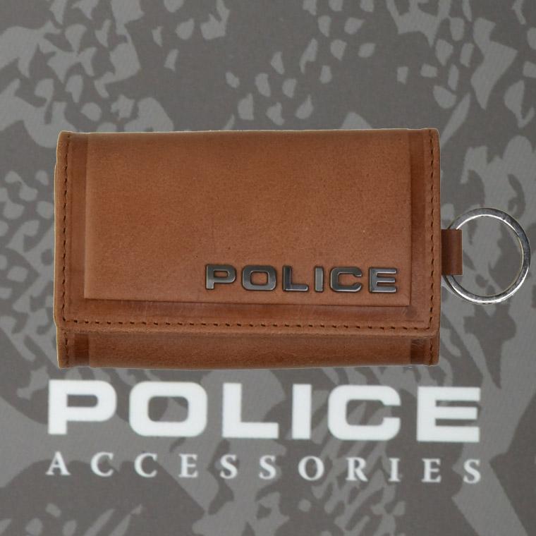 POLICE(ポリス)EDGE キーケース キャメル【PA-58003-25】