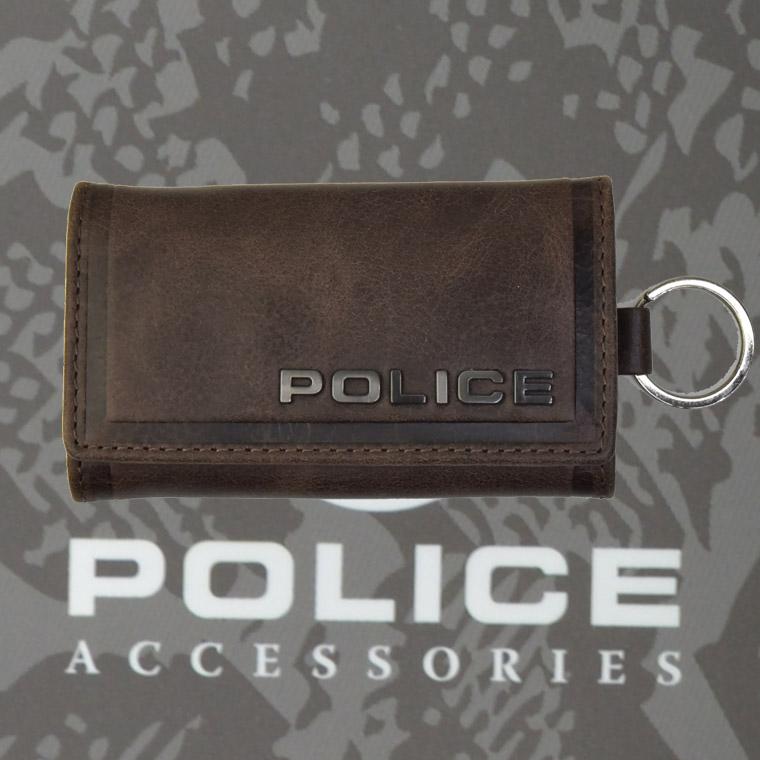 POLICE(ポリス)EDGE キーケース ダークブラウン【PA-58003-29】