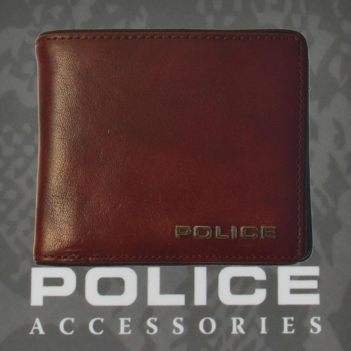 ポリス 財布 二つ折り TERAIO ブラウン【PA-70001-29】