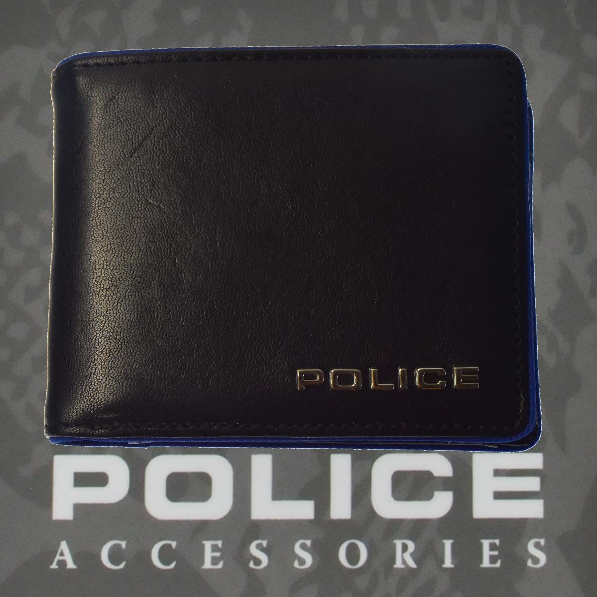 財布 メンズ ポリス 二つ折り TERAIO  ブラック【PA-70001-10】