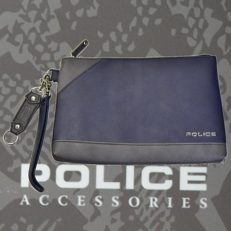 POLICE(ポリス) バッグ URBANO ネイビー/グレー【PA-62002-50】