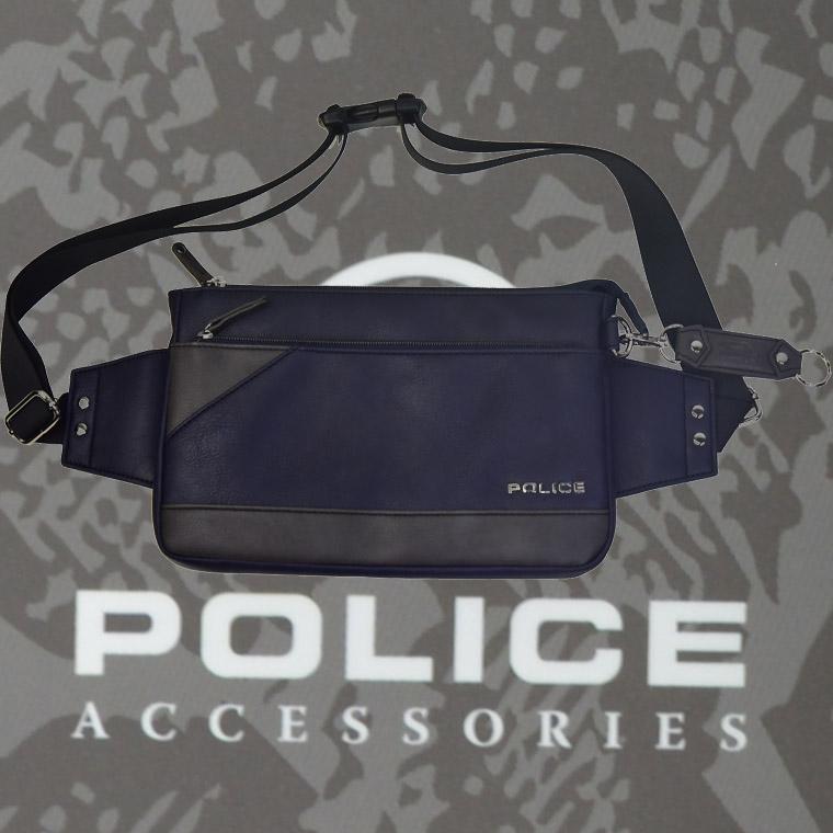 POLICE(ポリス) バッグ URBANO ネイビー/グレー【PA-62001-50】