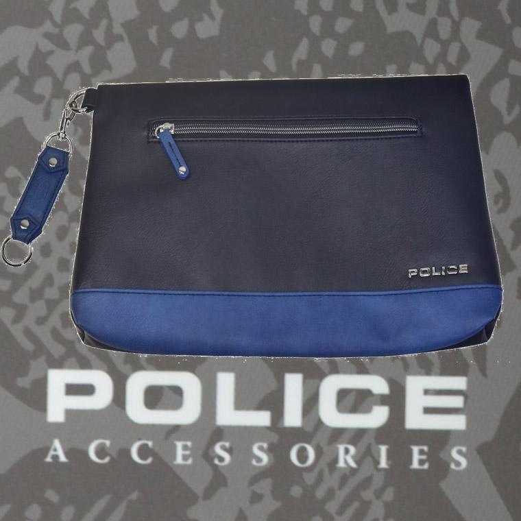 POLICE(ポリス) バッグ URBANO ブラック/ブルー【PA-62003-10】