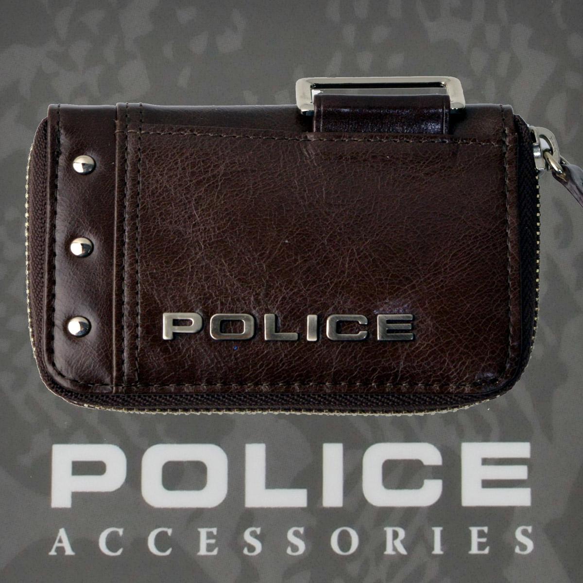 POLICE(ポリス)Avoid Ⅱ コインケース チョコ【PA-58600-29】