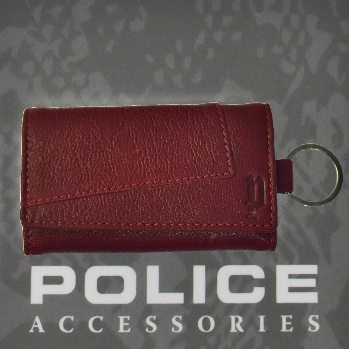 POLICE TIPICO  キーケース  ワイン【PA-59700-70】