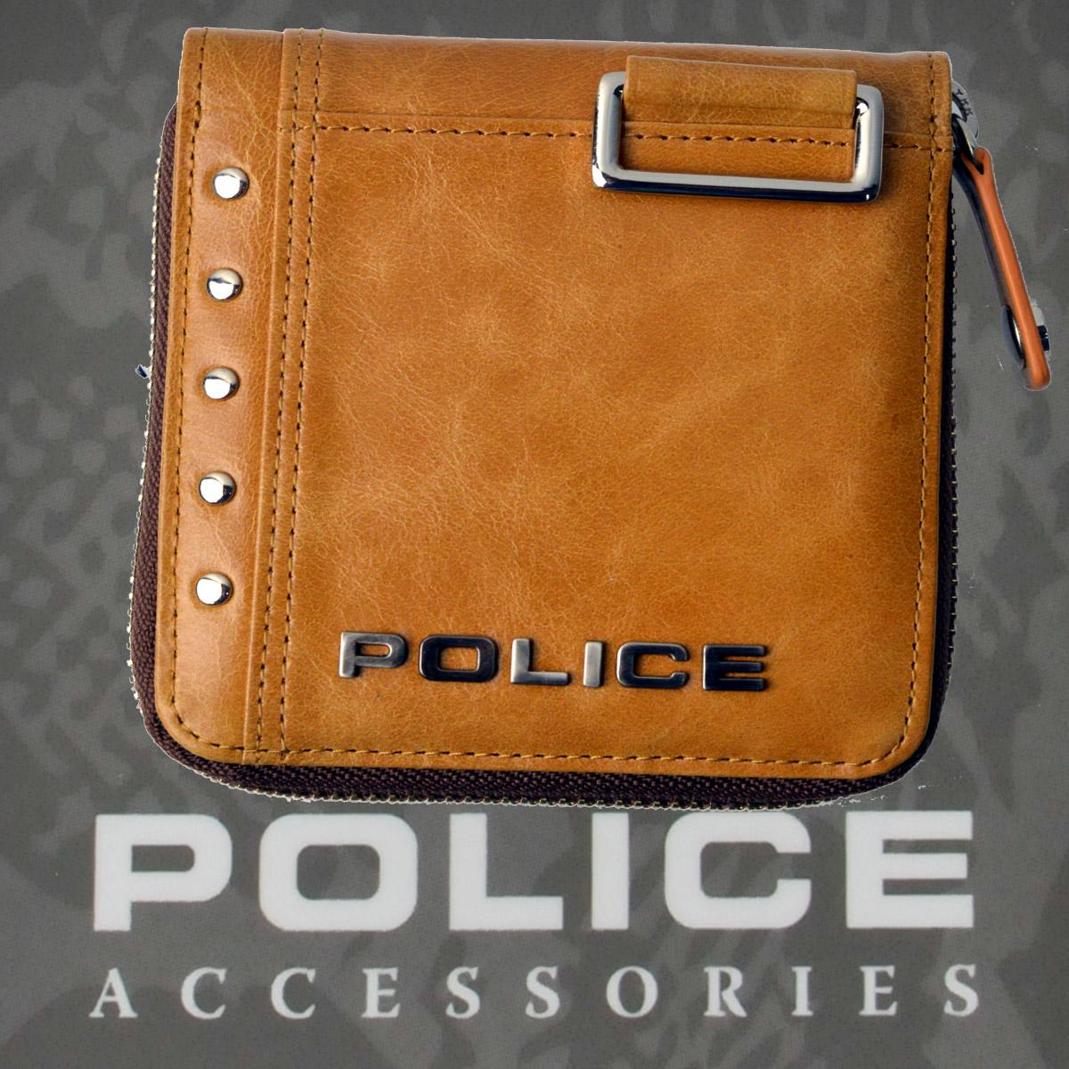 POLICE   財布 二つ折り Avoid Ⅱ キャメル【PA-58601-25】
