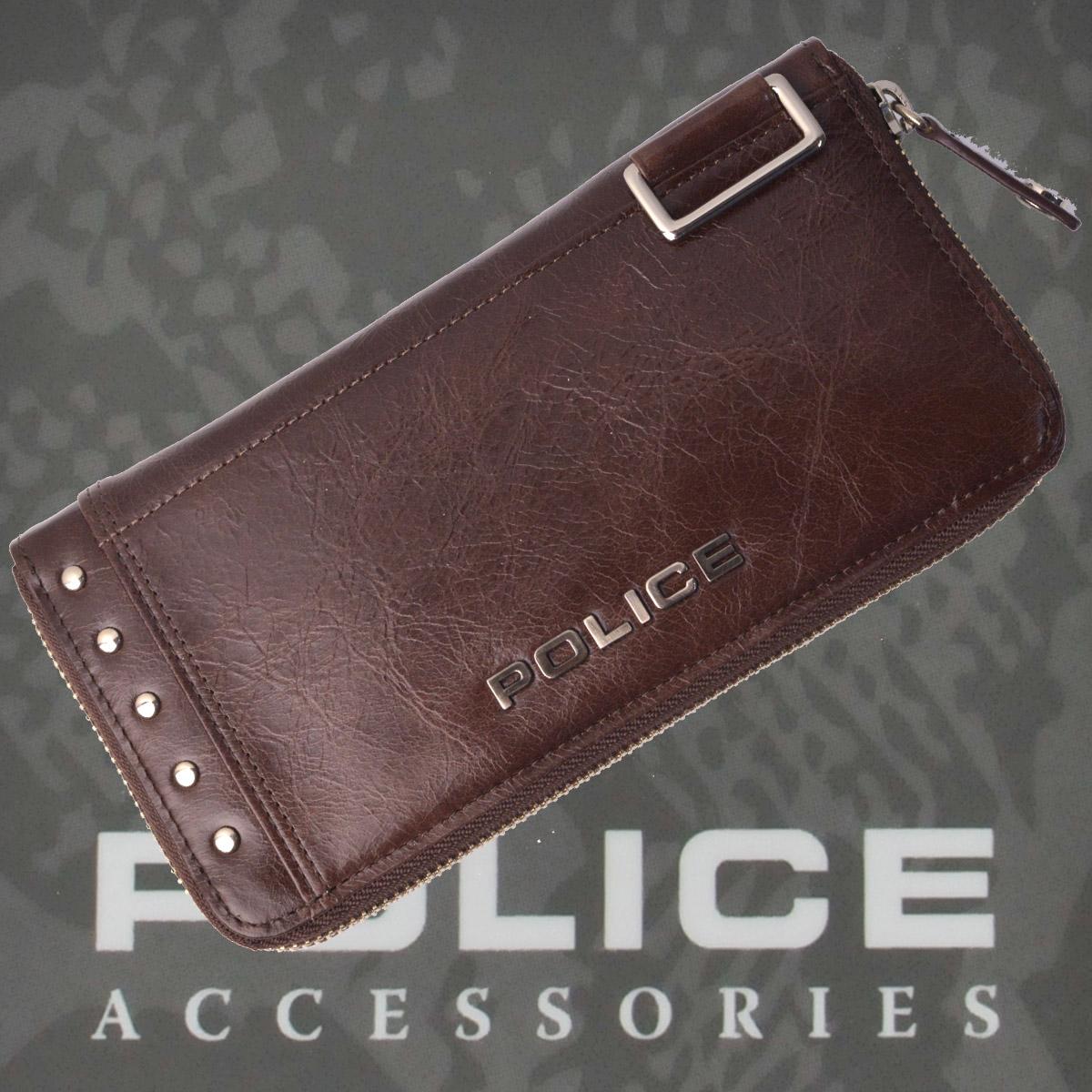 POLICE 長財布  Avoid Ⅱ  チョコ【PA-58603-29】