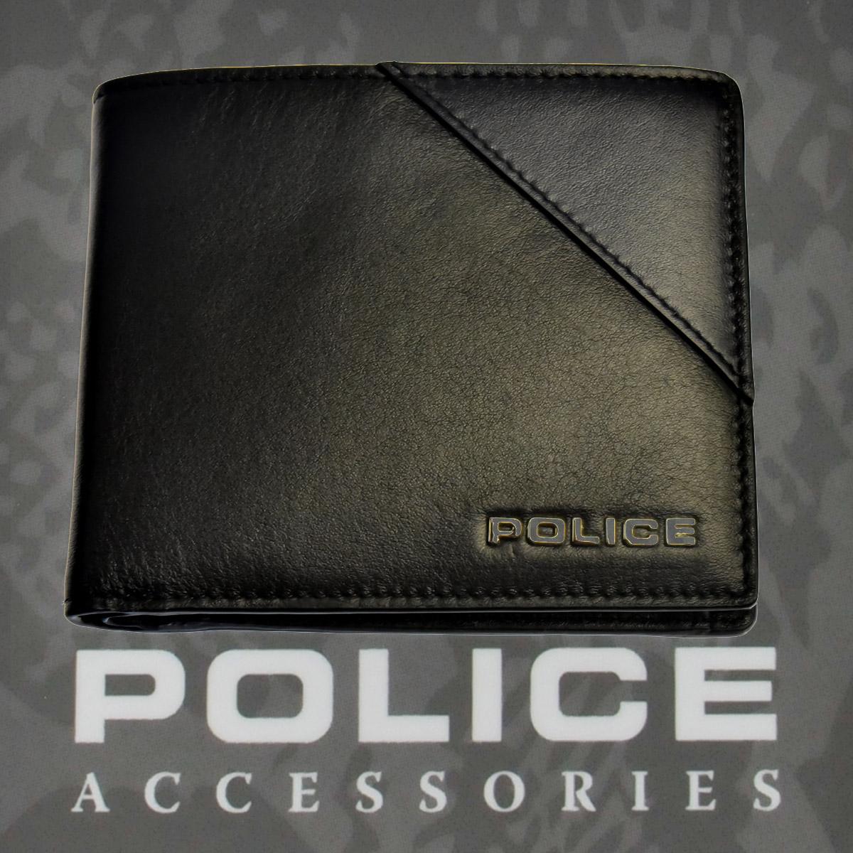 財布 メンズ ポリス 二つ折り URBANO  ブラック【PA-70101-10】