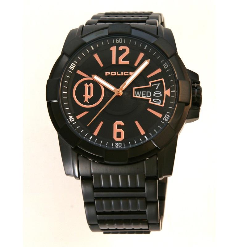 POLICE(ポリス)時計 SCOT  ブラック/ピンクゴールド【12221JSB-02M】