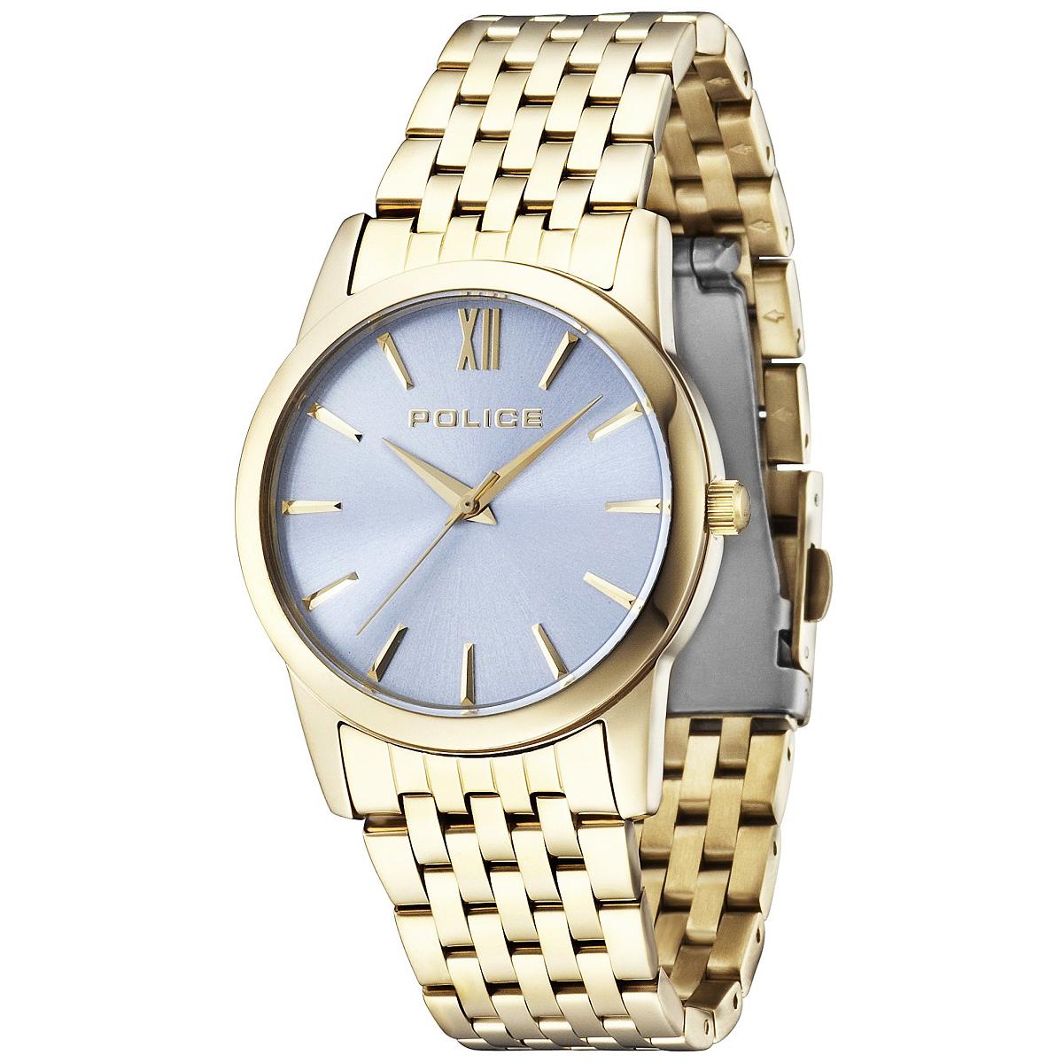 POLICE(ポリス)腕時計 CELEBRASHONセレブレーション アイスブルー/ゴールド【14495MSG-08M】