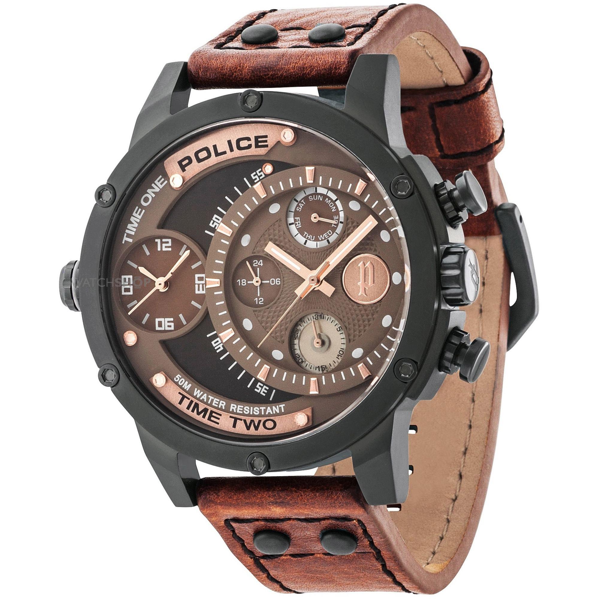 POLICE(ポリス)腕時計 ADDERアダー ブラウン/カッパー【14536JSB-12A】