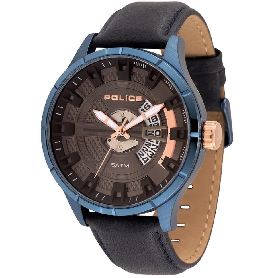 POLICE(ポリス)腕時計 MALLETマレット ブルー【14678JSBL-61】