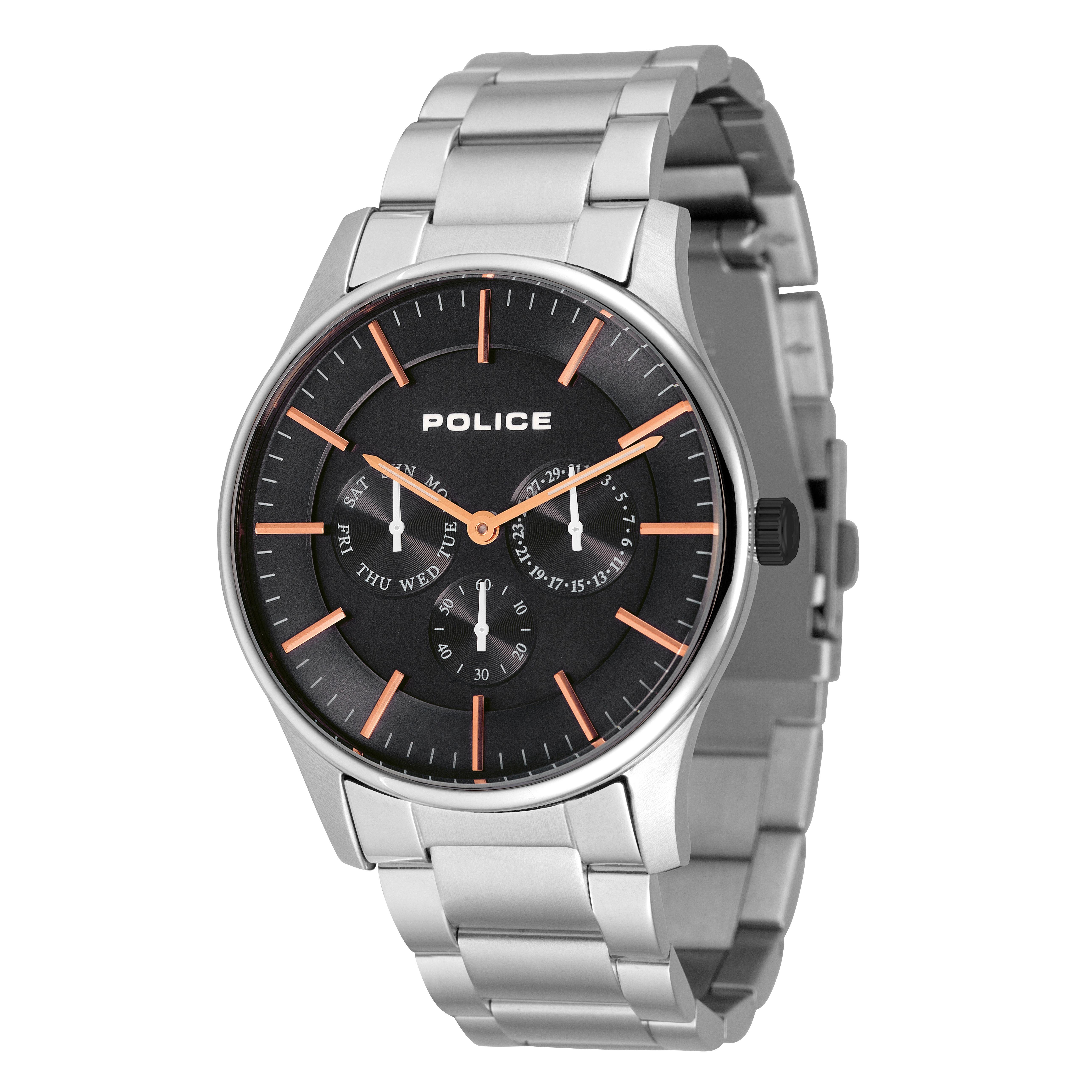 POLICE(ポリス)腕時計 COURTESYコーテシー ブラック/ローズゴールド【14701JS-02M】