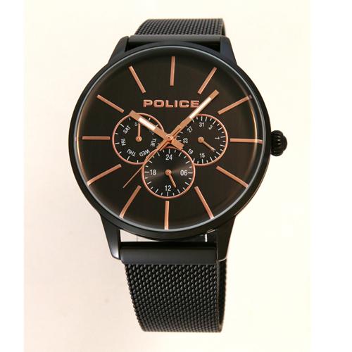 POLICE(ポリス)腕時計SWIFT スウィフト ブラック/ゴールド【14999JSB-02AMM】