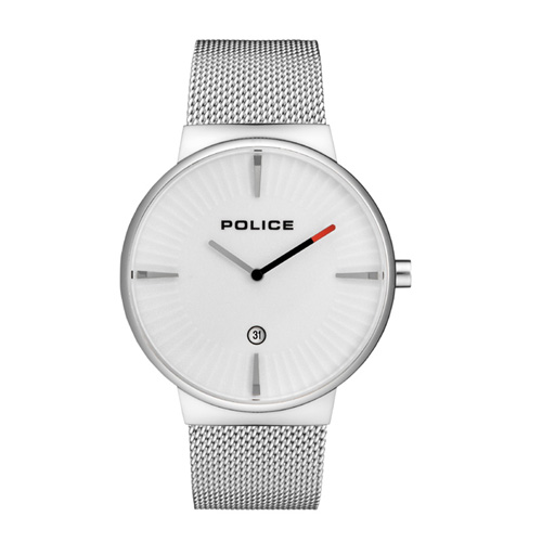 POLICE 時計 CASCADE ホワイト/シルバー【15436JS-04MM】