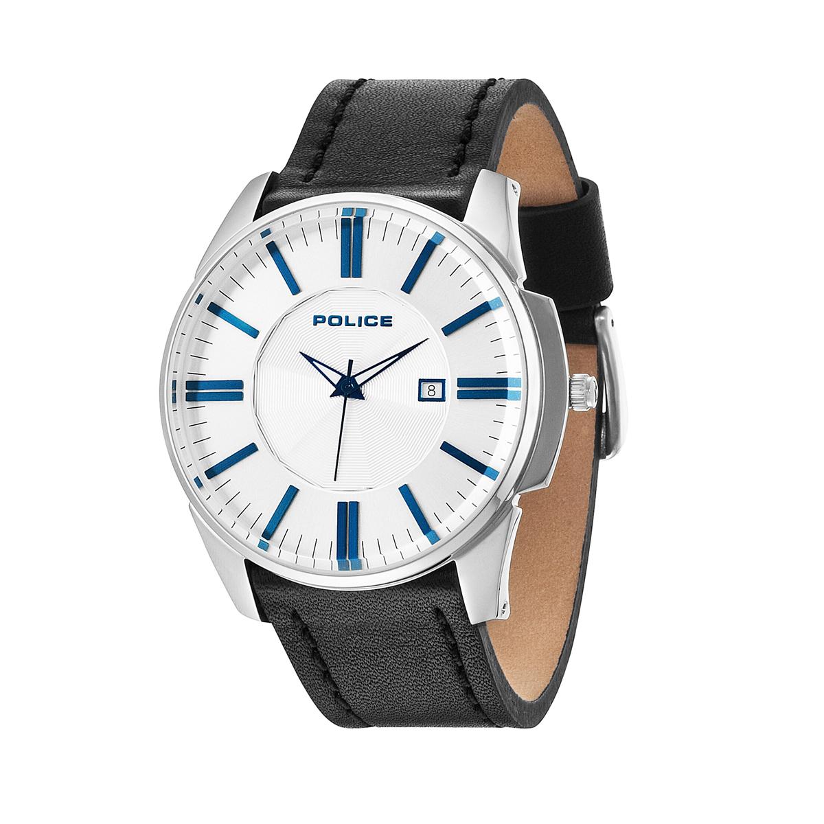 POLICE(ポリス)時計 プレゼントにGOVERNORガバナー ホワイト/ブルー【14384JS-04】