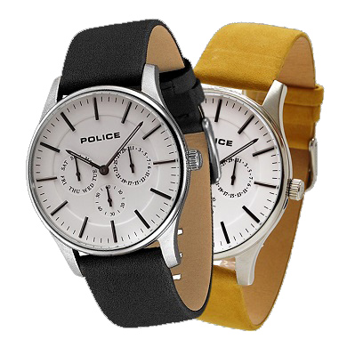 【14701JS-01(SET)】POLICE(ポリス)腕時計 COURTESYコーテシー ホワイト/シルバー(交換バンド付き)